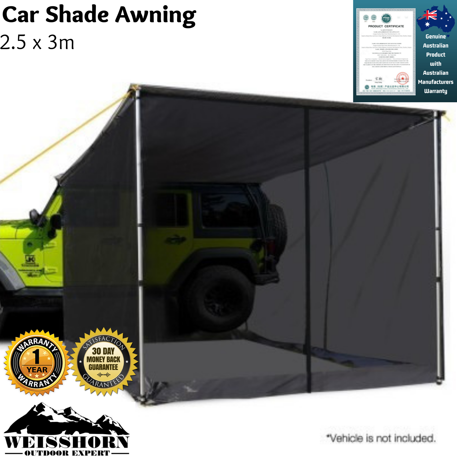 4Wd Awning Tent details about new car 4wd 4x4 roof rack awning vehicle fly mesh screen suv  net tent 2.5 x 3m