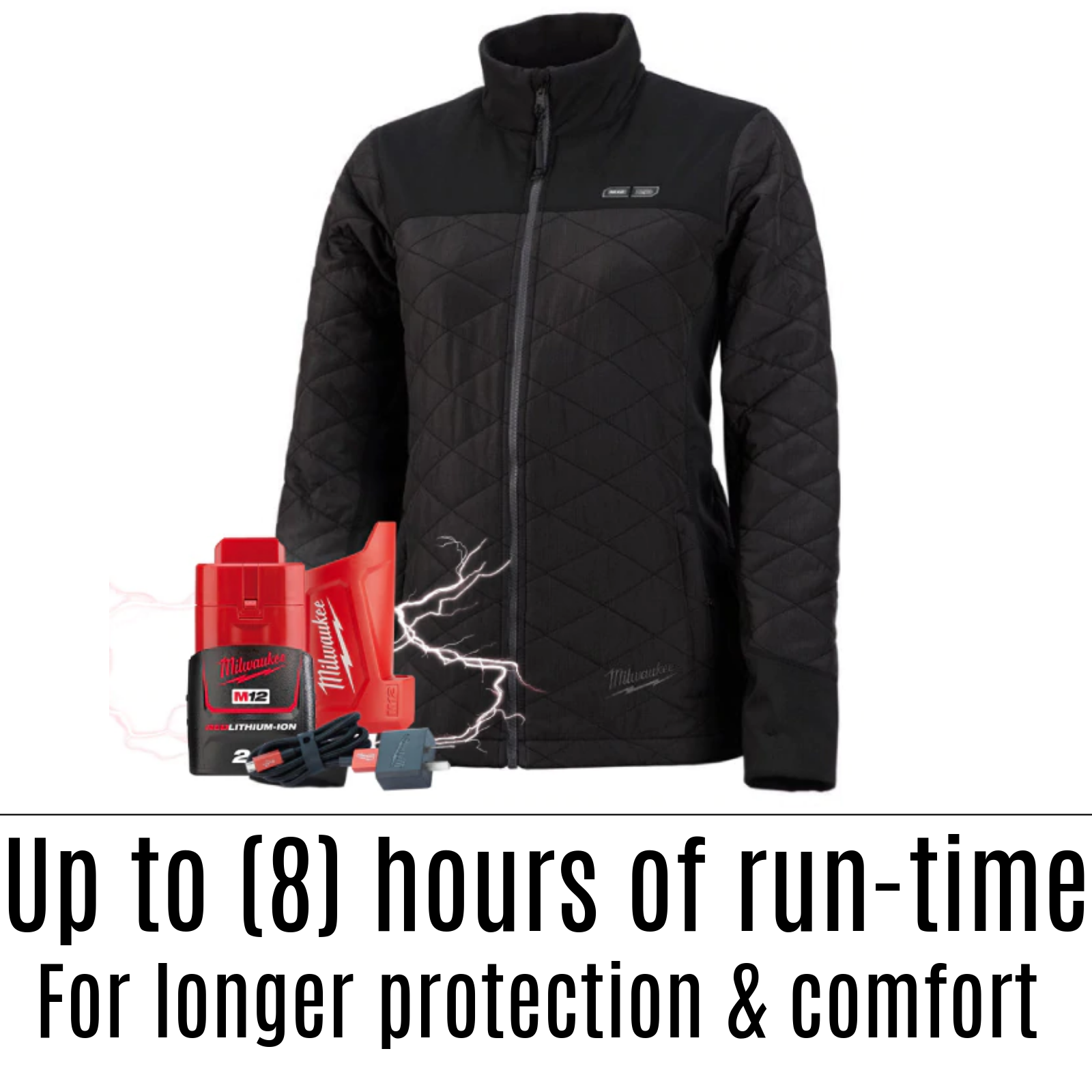 Details about MILWAUKEE WOMEN'S HEATED JACKET KIT INCLUDES BATTERY &  CHARGER LADIES ELECTRIC